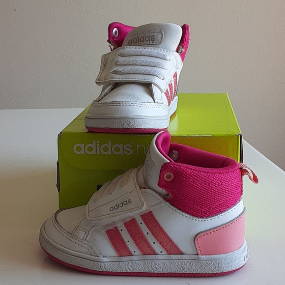 Adidas Neo Shoes | White Pink High Top